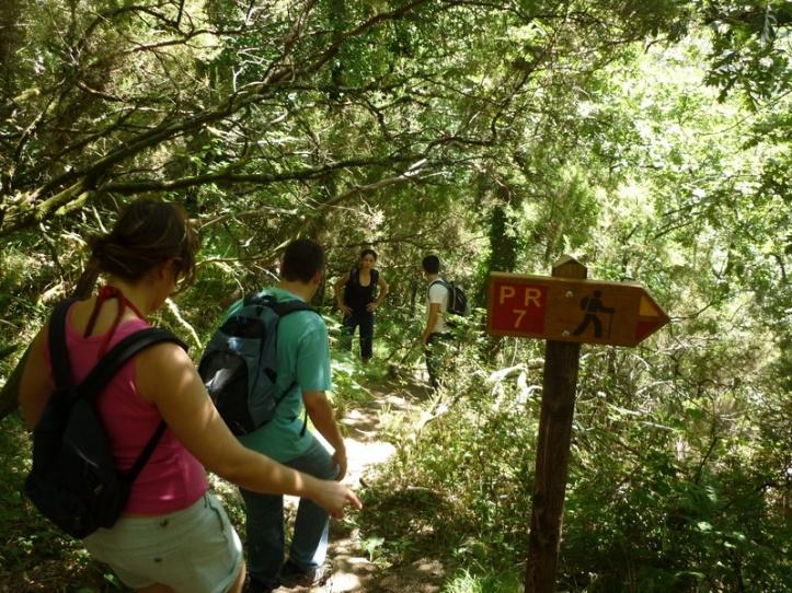 Hiking to the botton of Mizarela waterfall, Arouca