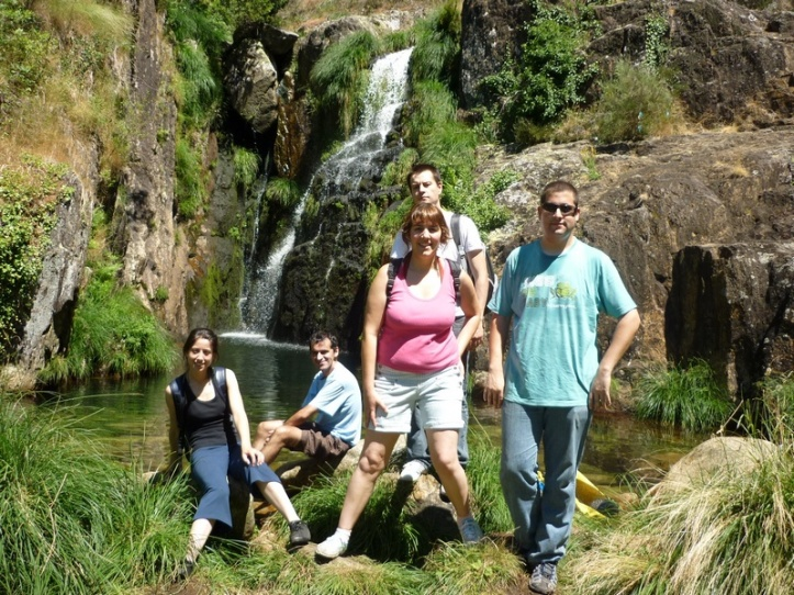 At the botton of Portugal longest waterfall
