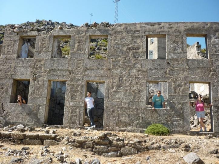 In the ruins of World War II Tungsten mines of Arouca
