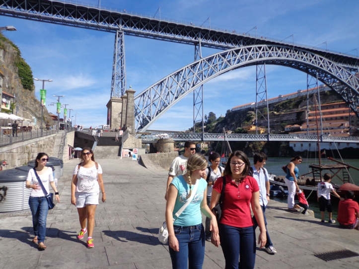 Oporto waterfront and the King D. Luís I bridge